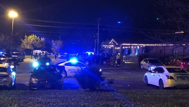 Police respond to Remedies Nightclub where six people were shot Thursday night.