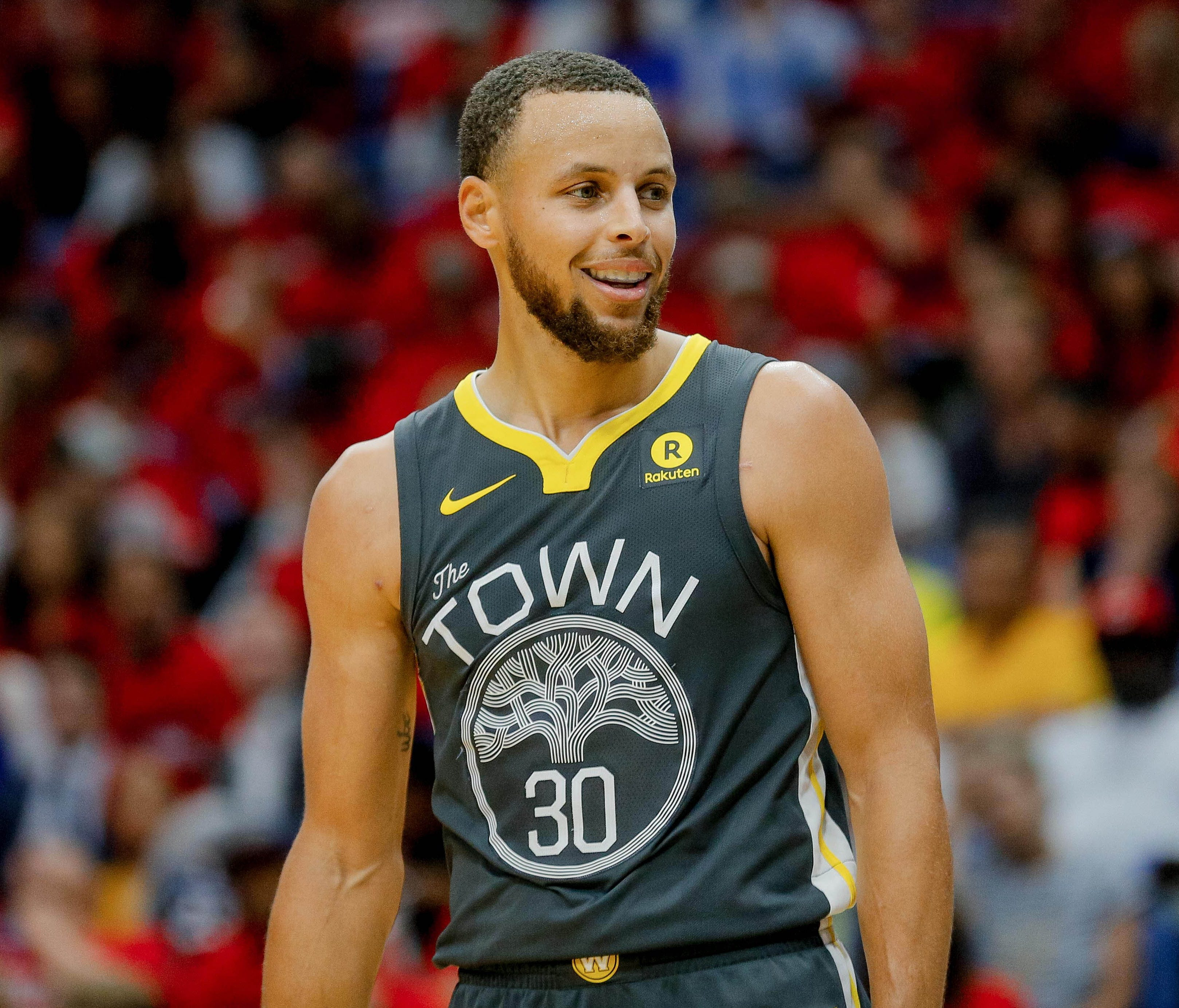 Golden State Warriors guard Stephen Curry during Game 4 against the New Orleans Pelicans.