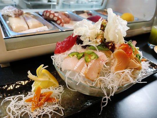 Sashimi at Makitto Sushi in Mesa. (Clockwise from right: