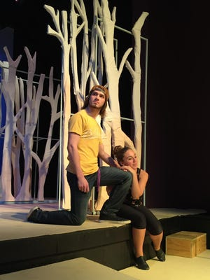 "Nick Vanderwood and Kiersta Pino star in the Elmira College production of ""Listen To My Heart."""