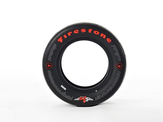 Firestone's commemorative tire for the 100th running of the Indianapolis 500.