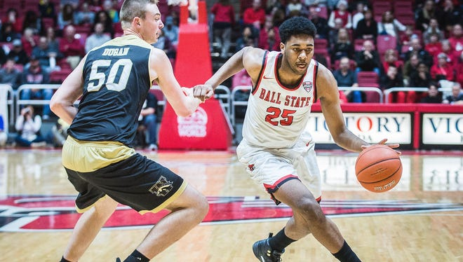 FILE -- Tahjai Teague plays for Ball State.