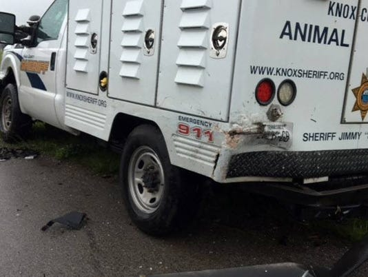 Animal control officers hurt in wreck