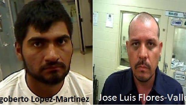 Rigoberto Lopez-Martinez, 26 (left), and Jose Luis Flores-Valles, 34.