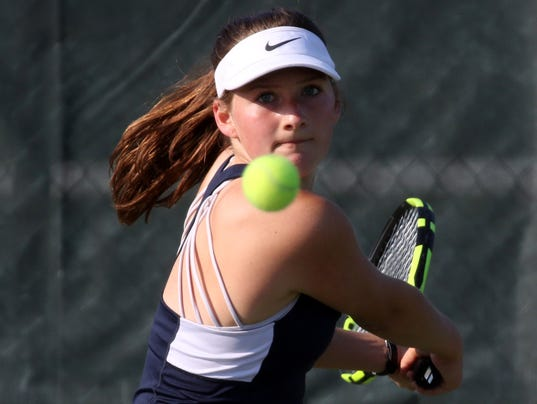 Brookfield East Girls Tennis at Brookfield Central