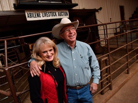 Randy and Barbara Ann Carson, photographed in 2018. Randy Carson is turning over the ownership reins of Abilene Livestock Auction to Henry Pickett II.