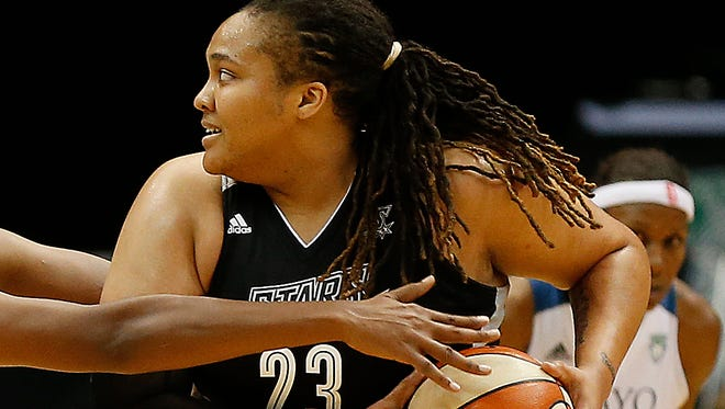 San Antonio Stars forward Danielle Adams will miss three games without pay for an unspecified violation of the league's anti-drug program.