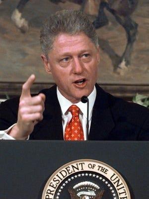 President Clinton in January 1998.