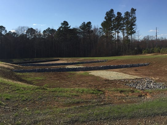 A second pond is awaiting approval to receive stormwater