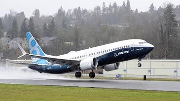 A Boeing 737 Max on take off from an airport in Seattle. This one is equipped with CFM engines; the West Chester-based GE joint venture has a new $3 billion order with VietJet calls for Pratt & Whitney power plants.