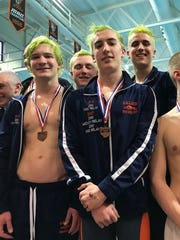 Galion has qualified all three of its boys relays, including this 200 medley crew of Luke Eisnaugle, Sam Rigdon, Caleb Strack and  Clay Karnes.