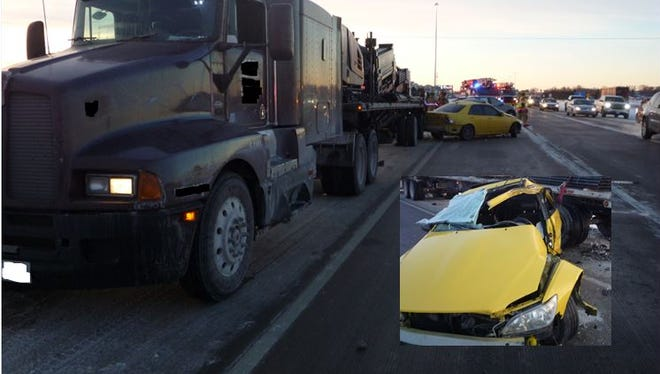 A man was injured after a crash on Interstate 29 on Monday morning.