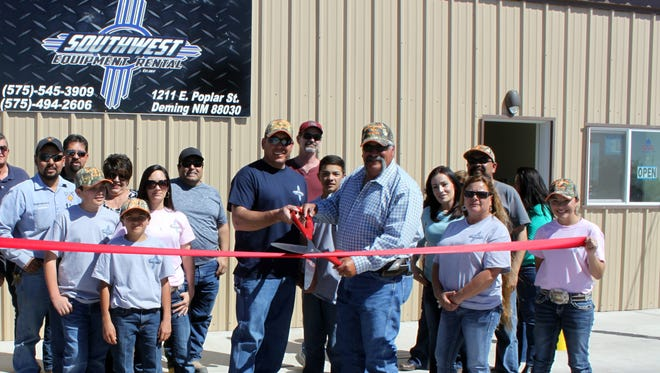 The Deming-Luna Chamber of Commerce held a ribbon-cutting ceremony last week for the grand opening of Southwest Equipment Rental at 1211 Poplar St.