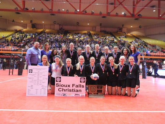Class A champion Sioux Falls Christian Chargers