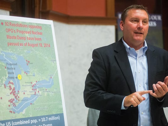 Public hearing against Canadian nuclear waste facility Monday, Oct. 6