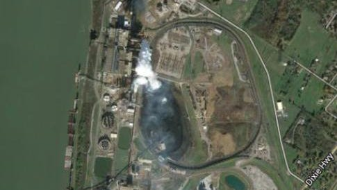 Mill Creek power plant as seen from Google Earth. It's discharges have been the subject of a lawsuit by environmentalists.