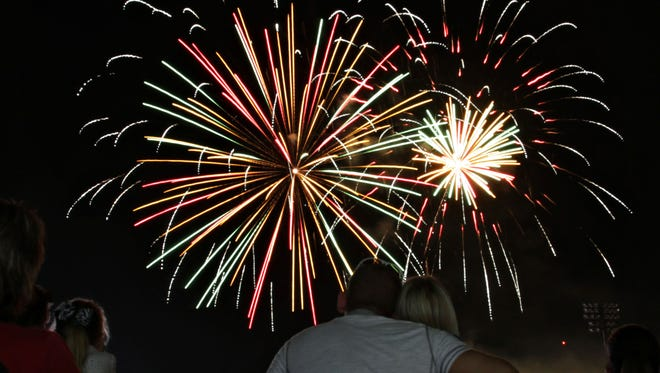 The fireworks begin at 9:45 p.m. Saturday, June 28, at Hammons Field, but other events are scheduled starting at 3:10 at venues near the ballpark.
