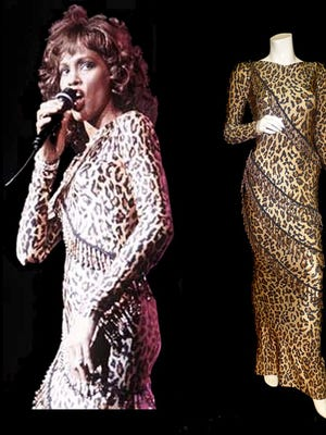 Dresses owned by Whitney Houston exhibit