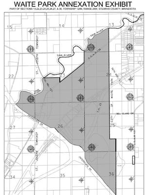 The final stage of Waite Park's annexation of St. Joseph Township will expand the city's west boundaries from the Sauk River to Interstate Highway 94.