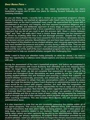 CSU athletic director Joe Parker's statement explaining