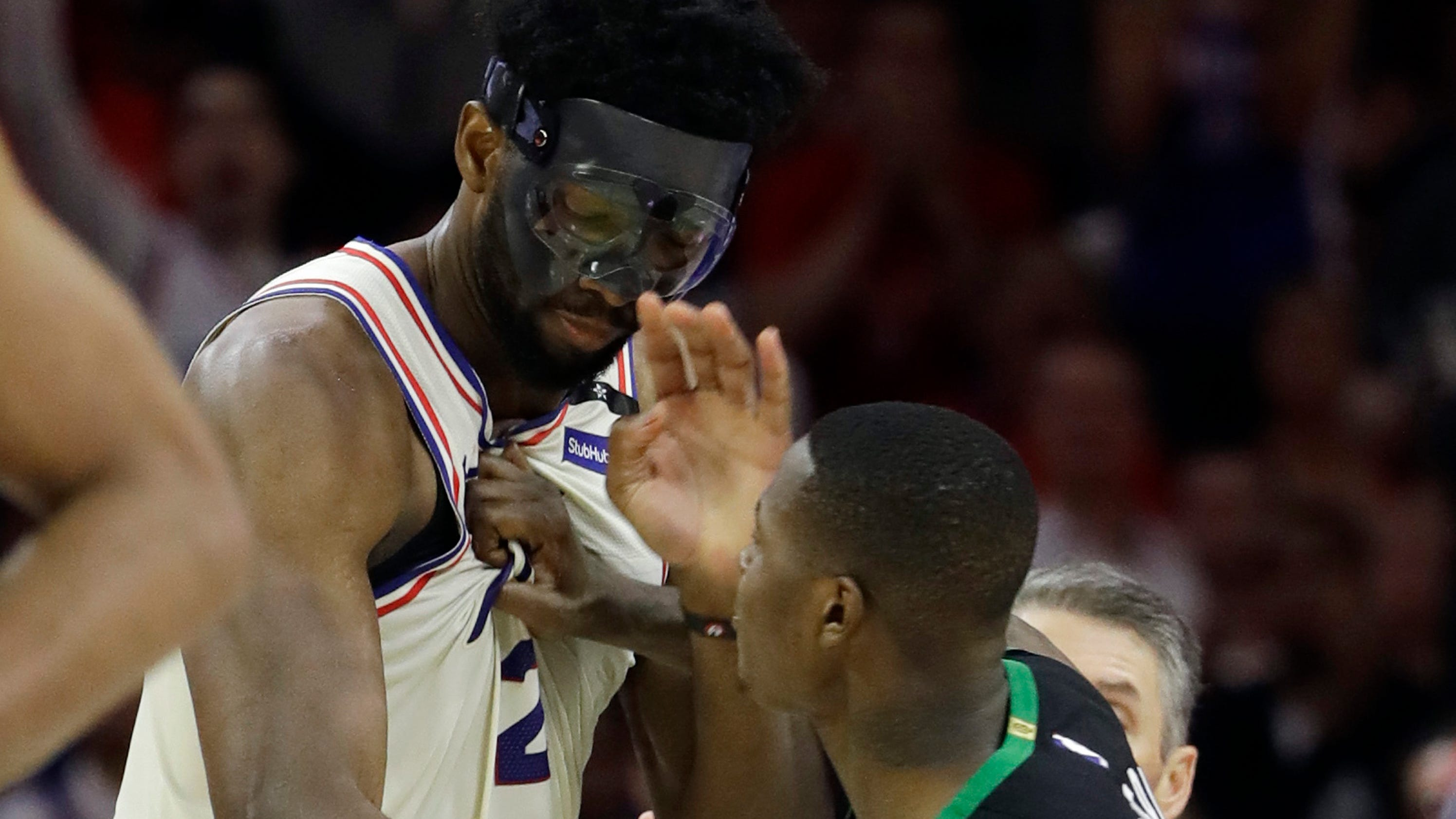 Embiid and Terry Rozier got into heated scuffle