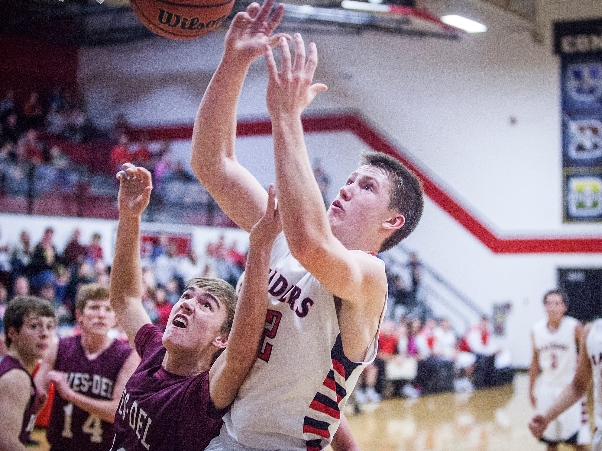 Wapahani's Hayden Castor, pictured in a win against Wes-Del, is part of a rebuilt Wapahani squad aiming for another county crown.