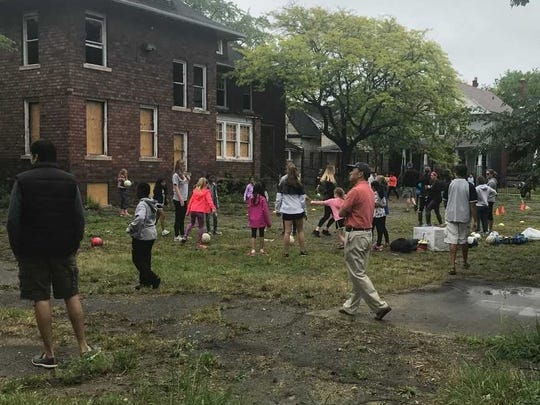 A scene from the June 2 event at the Detroit Rescue Mission.