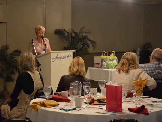 Barb Moran-Engler hosted the Fremont Area Women's Connection's