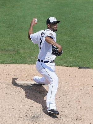 David Price throws during the third inning Saturday.