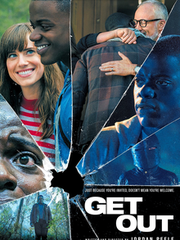 "The theatrical teaser poster for ""Get Out,"" a Best"
