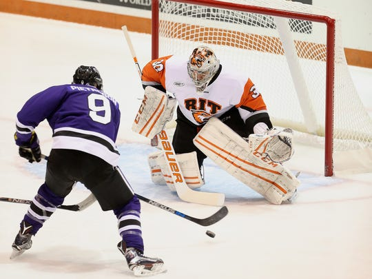 Mike Rotolo of Greece is RIT's career goaltender leader