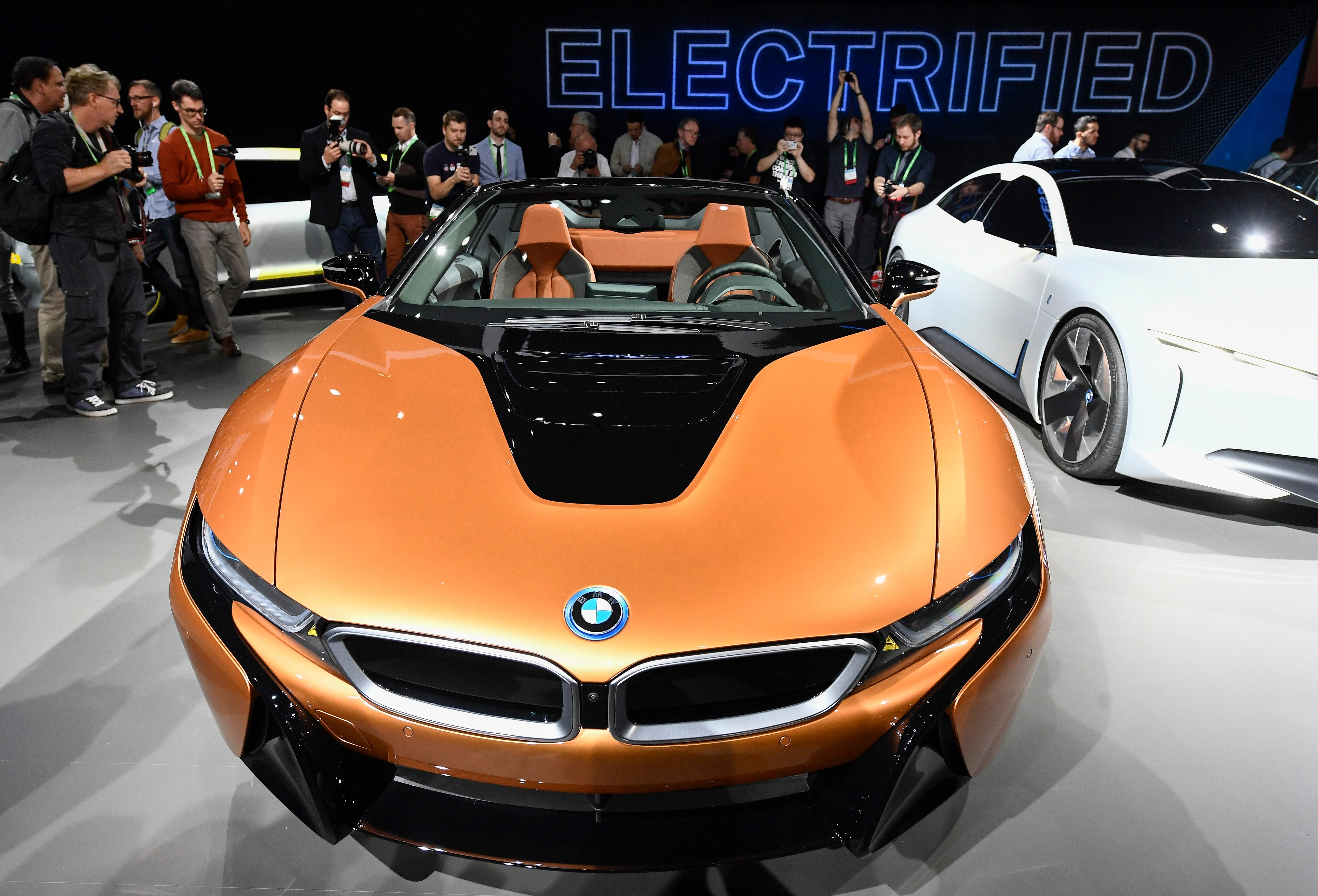 BMW Unveiled The BMW I8 Roadster At A Press Conference