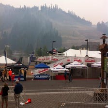 The Ironman race in Lake Tahoe was cancelled Sept. 21, 2014 due to unsafe air quality.