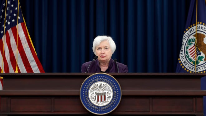 Federal Reserve Board Chair Janet Yellen speaks during a news conference on the Federal Reserve's monetary policy, Wednesday, Sept. 21, 2016.
