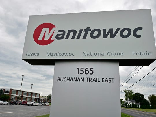 Manitowoc Company, seen Tuesday, August 9, 2016, will move its crawler crane manufacturing operations from Manitowoc to Shady Grove, east of Greencastle, according to a press release from the company.
