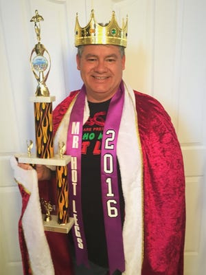 "Doña Ana County Sheriff Enrique ""Kiki"" Vigil was crowned the 2016 Mucho Macho Hot Legs King."