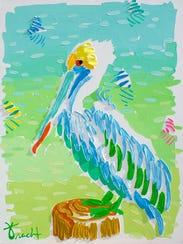 """Jupiter painter Kelly Tracht's """"Pelican Regatta"""" will"""