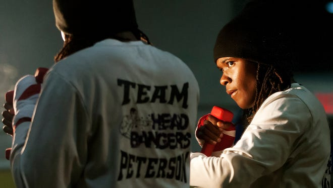 Olympic hopeful Tiara Brown shadow boxes recently at the Bald Eagle Boxing Annex in Washington, DC.