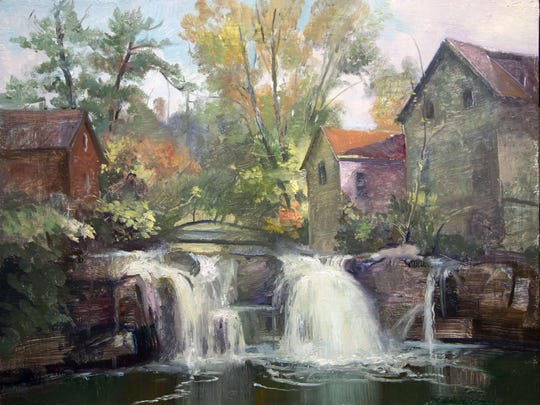 """""""Woodstock Way"""" by Keith Gunderson is among the works on display at the Betsy Jacaruso Gallery in Rhinebeck through May 29."""