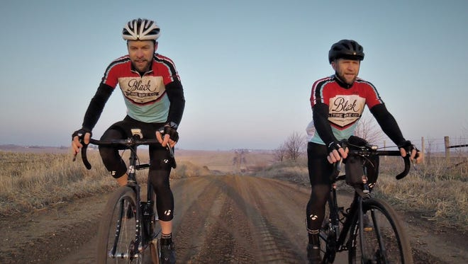 Two Grinnell cyclists, Tim Stahl and Jon Duke, will ride across Iowa to raise funds for therapy equipment at St. Francis rehabilitation clinic.