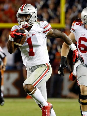 Braxton Miller had 140 yards and two touchdowns rushing and receiving in his non-quarterback debut for Ohio State on Monday.