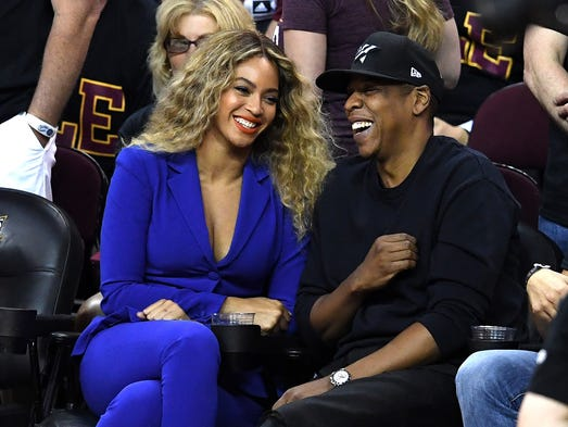 CLEVELAND, OH - JUNE 16:  Beyonce and Jay Z attend