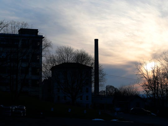The former Morse Industrial Corporation, presently owned by Emerson Electric, in Ithaca. Dangerous, carcinogenic  contamination has spread into neighborhoods below the factory.
