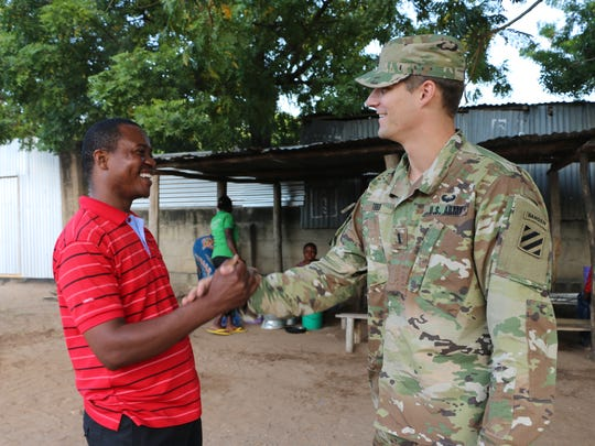 U.S. Army 1st Lt. Joe Todd is a native of Henderson, Ky., and transportation manager for exercise Eastern Accord 2016 in Dar es Salaam, Tanzania.