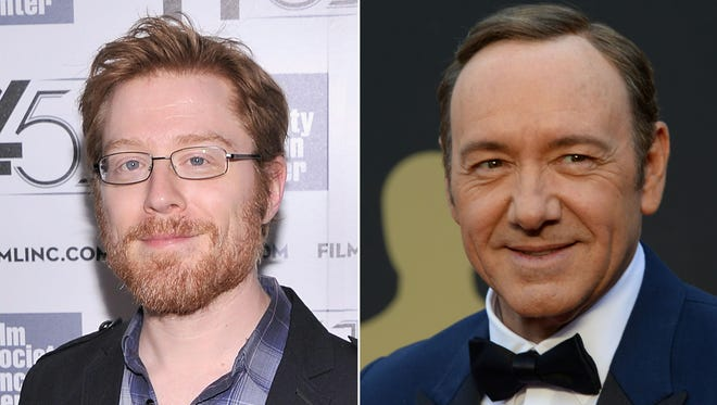 Anthony Rapp in October 2013 in New York, Kevin Spacey in March 2014 in Hollywood.