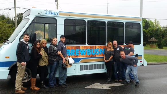 The Brew Bus NJ passengers from a past trip hang out