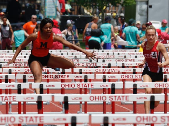 Mansfield Senior's Alaya Grose finished fourth in the Division II 100 meter hurdles.