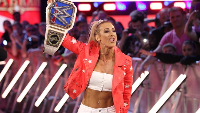 WWE Smackdown Women's Champion Carmella is one of the many names announced for WWE's return to Indianapolis.