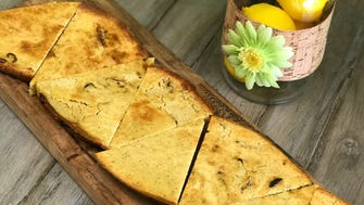 Chickpea flatbread from Zest in Fairfield.
