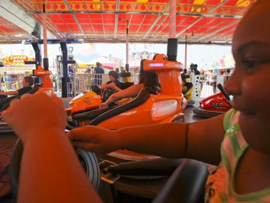 Spin City has tons of rides for the kids at State Fair.
